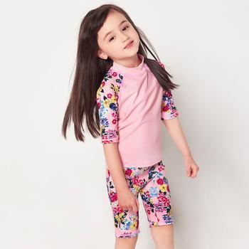 JULY SAND Girls Swimwear Children two piece Swimsuit baby swimsuit Bathing Suit Kids Beachwear