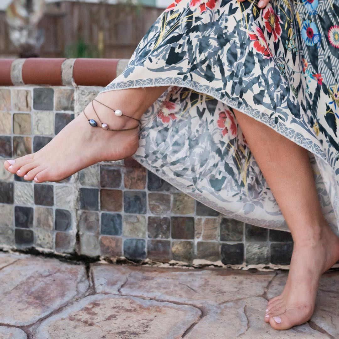 Панк Мода Имитация жемчужные браслеты на ногу для женщин богемные Очаровательные простые тканые лодыжки браслет женские ноги вечерние ювелирные изделия 2019 Новинка