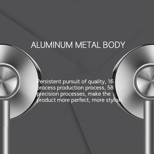 Image 3 - AZiMiYO auriculares metálicos de graves, cómodos auriculares internos con cancelación de ruido, micrófono de 3,5mm, Audio de alta resolución, auricular de media oreja