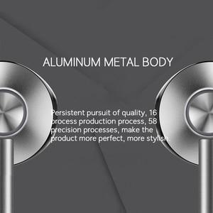 Image 3 - Azimiyo Metalen Bas Oordopjes Comfortabele In Ear Noise Cancelling Oordopjes 3.5 Mm Microfoon Hi Res Audio Half In Ear Oortelefoon