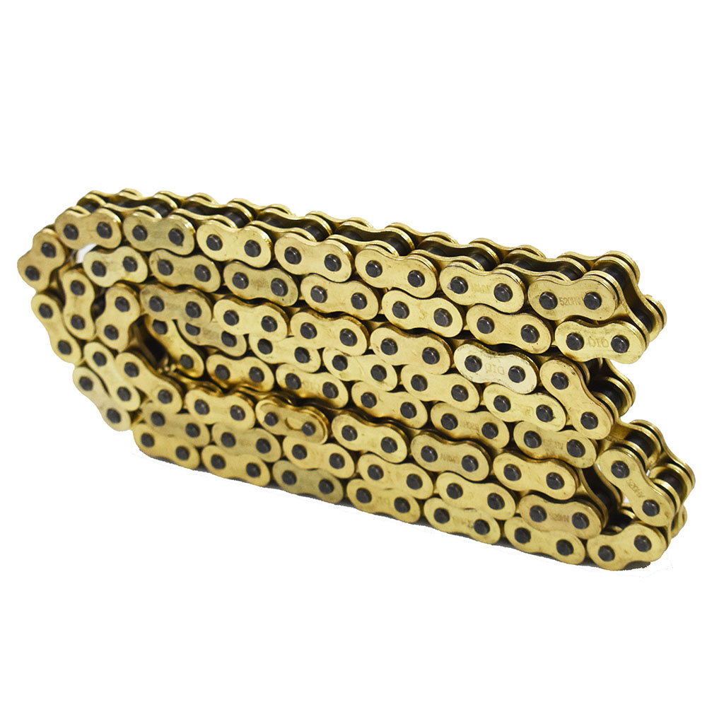 CHAIN 520 x114 Gold color with O-ring FIT Most ATV /& Motorcycles