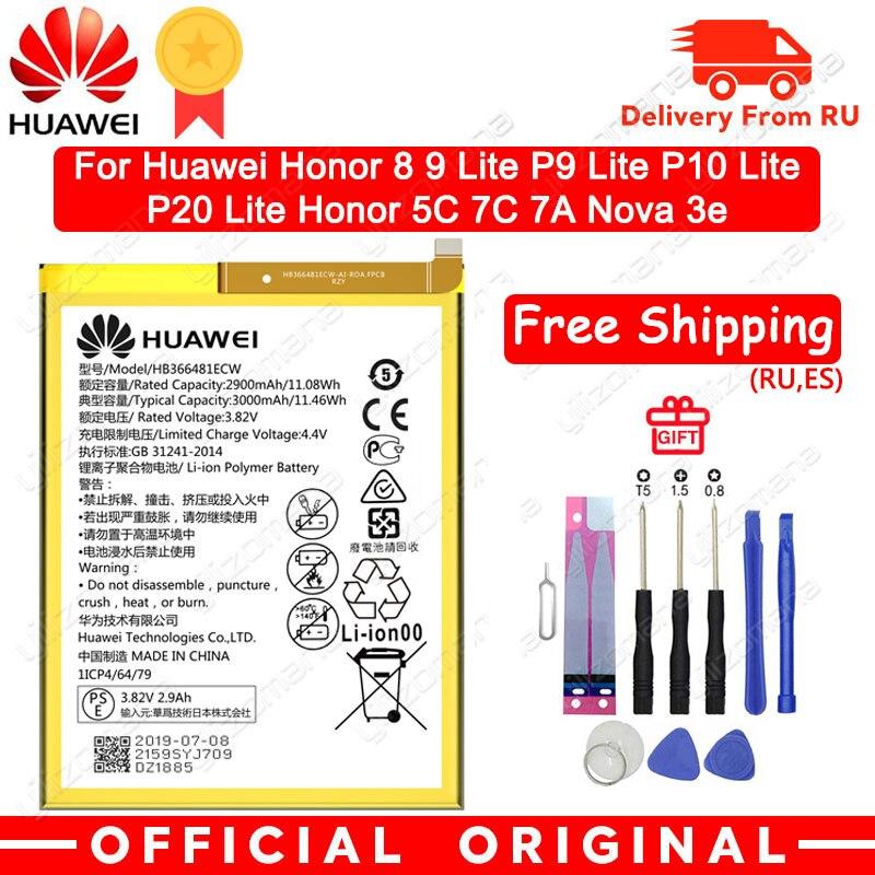 Hua Wei honor 8 HB366481ECW Bateria Do Telefone Original Para huawei honor 8 lite P9 huawei honor Ascend 5C P10 P9 G9 Lite 3000mAh