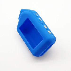 Image 3 - Funda de silicona para llave de coche, para Sher khan Mobicar A Mobicar B, versión rusa, LCD bidireccional, mando A distancia, llavero con alarma