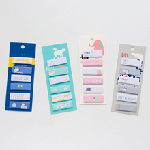 120pcs Kawaii Cartoon Animals Memo Pad Sticky Notes Name stickers Notebook Note Paper Stickers School Supplies