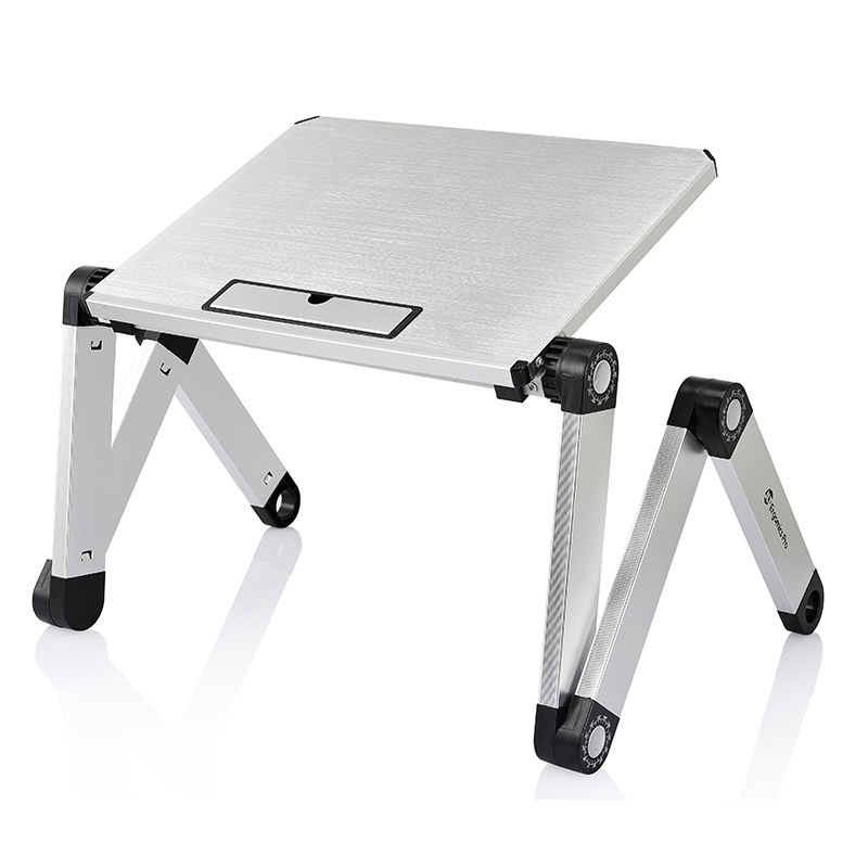 Foldable Aluminum Laptop Desk Ergonomic Portable Bed PC Table Sofa Notebook Stand Mini Lapdesk Home Office Table Furntiure