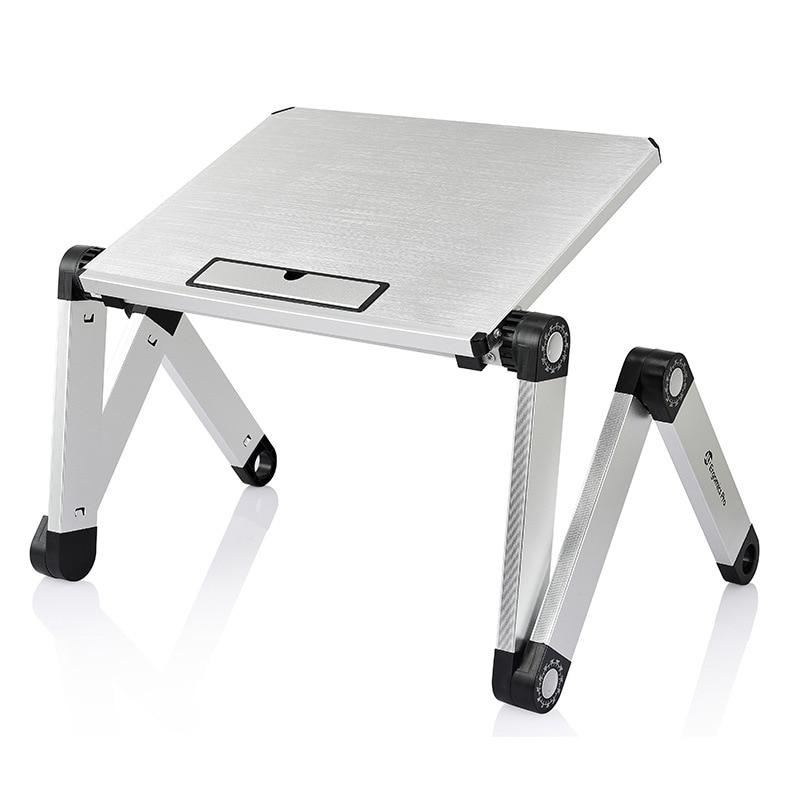 Foldable Aluminum Laptop Desk Ergonomic Portable Bed PC Table Sofa Notebook Stand Mini Lapdesk Home Office Table Furntiure
