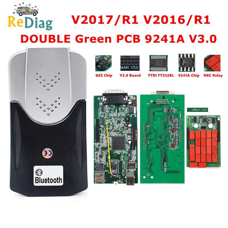 Автомобильные грузовики Multidiag Pro + Bluetooth 2017/R1 2016/R1 с бесплатным keygen V3.0 NEC Реле 9241A DS150 PRO OBD2