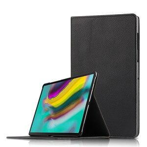 Image 5 - Étui de protection en cuir véritable pour tablette, pour Samsung Galaxy Tab S5E 10.5 T720 T725 SM T720, SM T725, 10.5 pouces