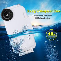 Waterproof Diving Shell Suitable for Apple XS, 7, 8, Plus Mobile iPhone Diving Casel Full Series 40m Diving Camera Phone Case