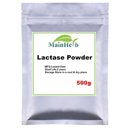 500-1000g nouvelle poudre de Lactase d'enzyme, poudre de sucre de lait de Lactose, bêta-galactosidase, Gel de masque de visage de scintillement de henné de Festival de maquillage