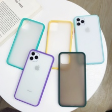 Mint Hybrid Simple Matte Bumper Phone Case for ipho