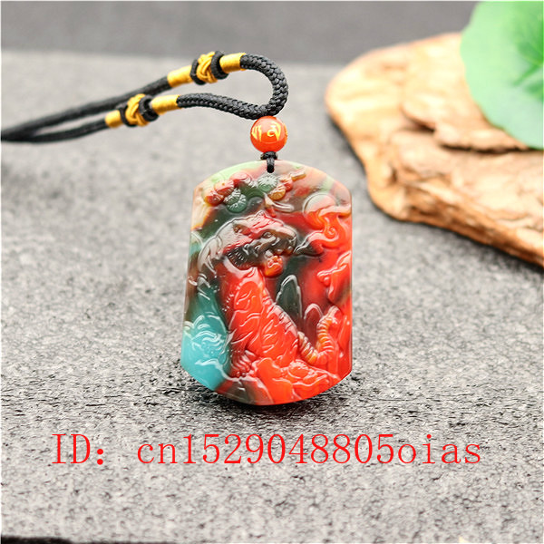 Natural Color Hetian Jade Stone Tiger Pendant Necklace Chinese Jadeite Jewelry Charm Amulet Carved Gifts For Women Men