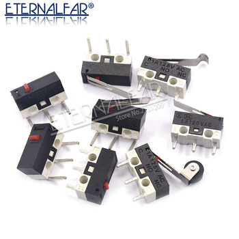 цена на Micro Limit Switch Momentary Push Button Switch 1A 125V AC Mouse Switch 3Pins Long Handle Roller Lever Arm SPDT 12* 6 *6mm
