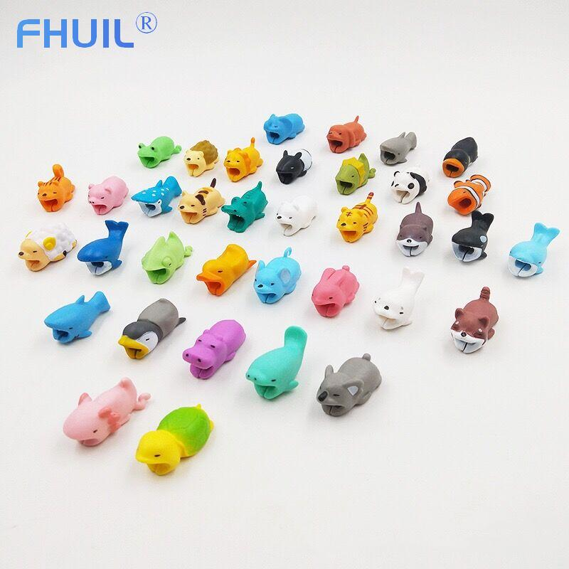 Cute Bite Mobile Phone Cable Protector Winder Usb Charger Data Cable Protect Case Cartoon Cord Protector Cable Organizer