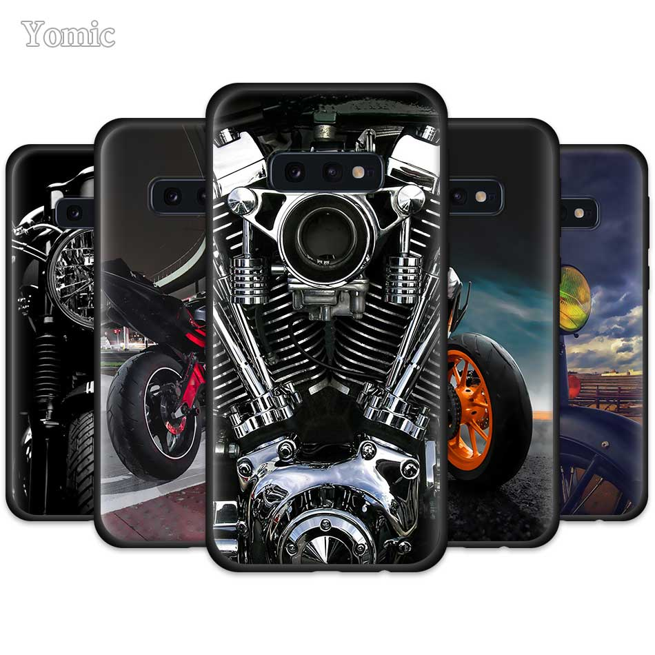 Classic Motorcycle Cool Case For Samsung Galaxy S10 5G S10e S9 S8 Plus S7 Edge Note 10 9 8 + Black Silicone Soft Phone Cover