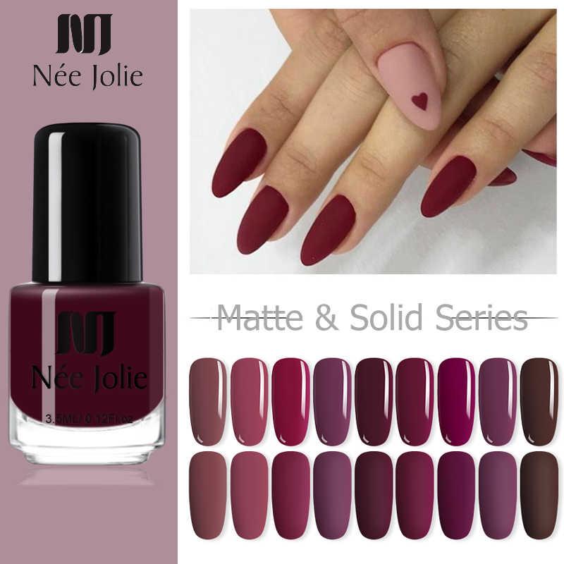 Nee Jolie Nail Polish 3.5 Ml Glimmer Mutiara-Kilau Kuku Seni Polandia Kopi Gray Series Glitter Nail Art Design pernis 68 Warna