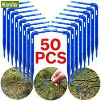 50 pçs dobrar gotejamento seta dripper micro kit de irrigação por gotejamento emissores para 3/5mm mangueira jardim poupança de rega micro dripper estufa|Kits de rega|Casa e Jardim -
