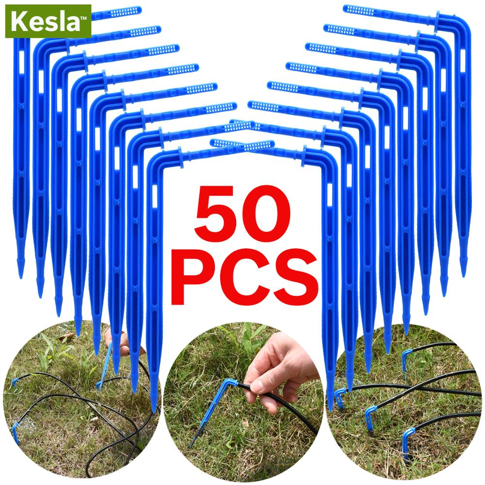 50PCS Bend Drip Arrow Dripper Micro Drip Irrigation Kit Emitters For 3/5mm Hose Garden Watering Saving Micro Dripper Greenhouse