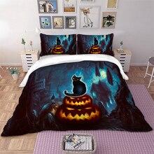 Wongs bedding Halloween Bedding set Pumpkin Cat Duvet Cover Pillowcases Twin Full Queen King Size bed home Textiles