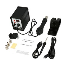 LODESTAR 2in1 Digital Display SMD Hot Air Rework Station And Soldering Iron Hot Air Gun Heat Gun Desoldering Tool