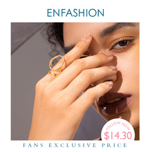 ENFASHION Irregular Crystal Ring Female Gold Color Finger Rings For Women Creative Fashion Jewelry Gifts Dropshippping R194032