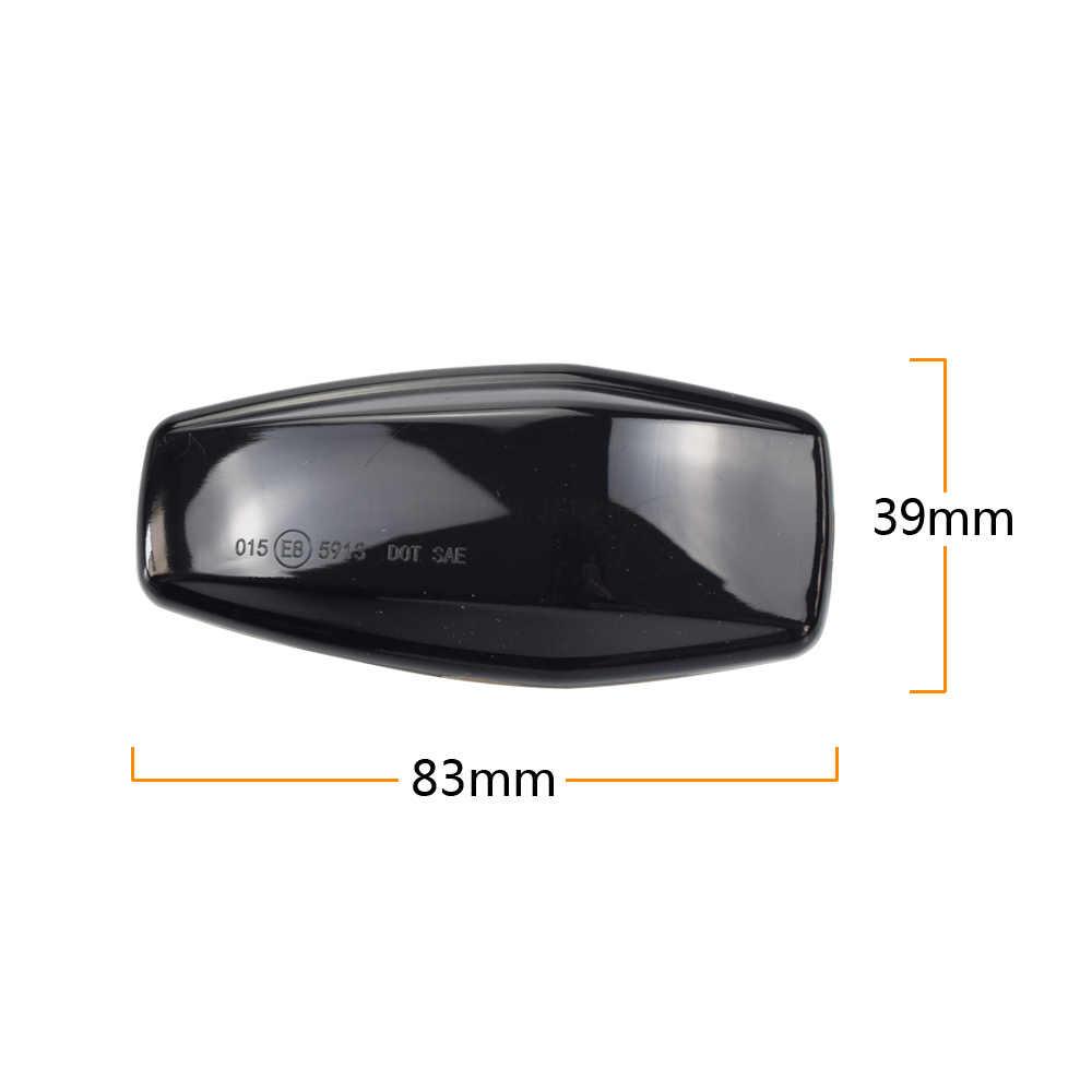 GHC Barras de luz LED din/ámicas intermitentes intermitentes laterales indicadores secuenciales para Focus MK1 1998-2004 Mondeo MK3 2000-2007 color: negro