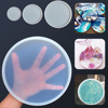 Transparent Silicone Epoxy Jewelry Pendant Agate Making Mould Fluid Round Coaster Resin Casting Molds Tool DIY Accessory