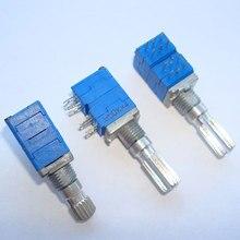4-канальный прецизионный потенциометр типа 09, 1 шт., B50K × 4, длина вала цветка 15 мм, 20 мм, 12 контактов