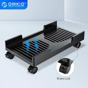 ORICO Stand-Cart Wheels-Stand Computer-Tower-Holder with Braking-Lock for PC Adjustable