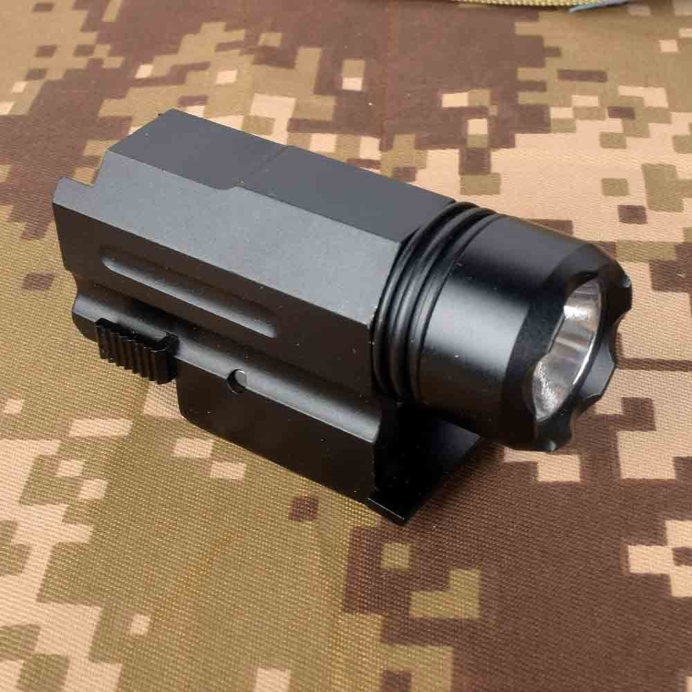 Airsoft Mini Pistol Light QD Quick Detach Handgun Flashlight LED Rifle Gun Torch For 20mm Rail Glock 17 19 18C 24 US STOCK