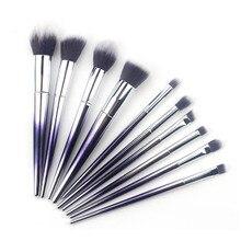 10Pcs Makeup Brush Kit Soft Synthetic Hair Wood Handle Make Up Brushes Foundation Powder Blush Eyeshadow Cosmetic Makeup Tools