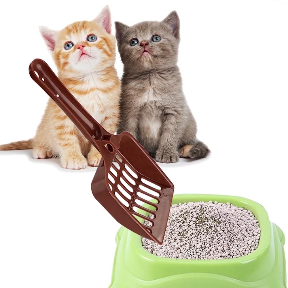 Plastic Cat Litter Shovel Scoop Random Color Pet Cleaning Tool Dog Food Spoons
