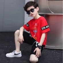Одежда для мальчиков летний детский костюм с короткими рукавами