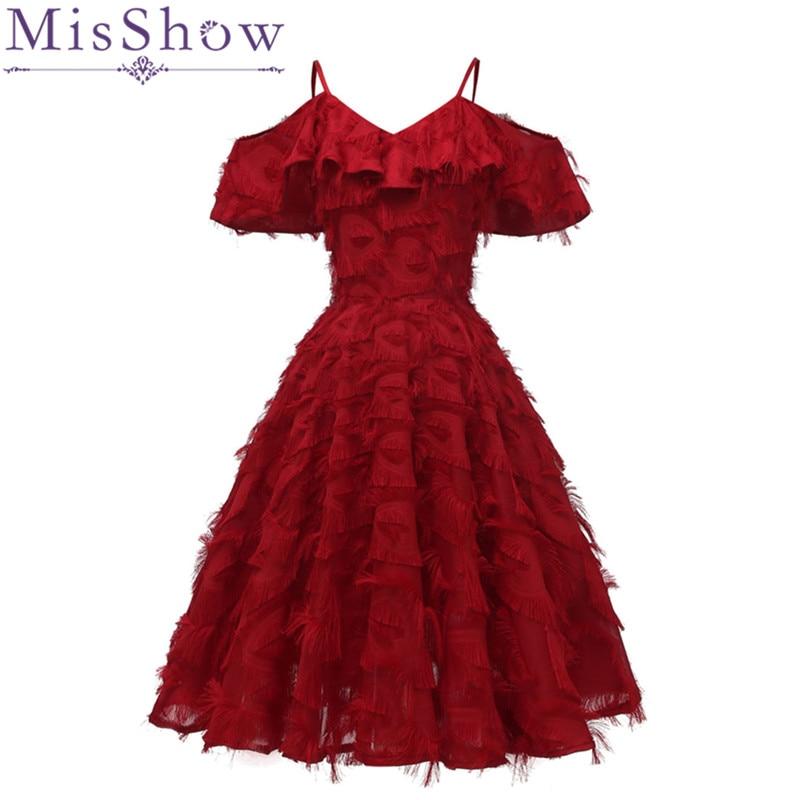 Burgundy Off Shoulder Short   Cocktail     Dresses   Sexy V-Neck Tassel A-Line   Dress   Short Pink Formal Party   Dress