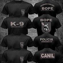 Novo brasil swat bope forças especiais polícia K-9 cão canino canil unidade 2019 engraçado algodão casual camiseta superior impresso t camisa