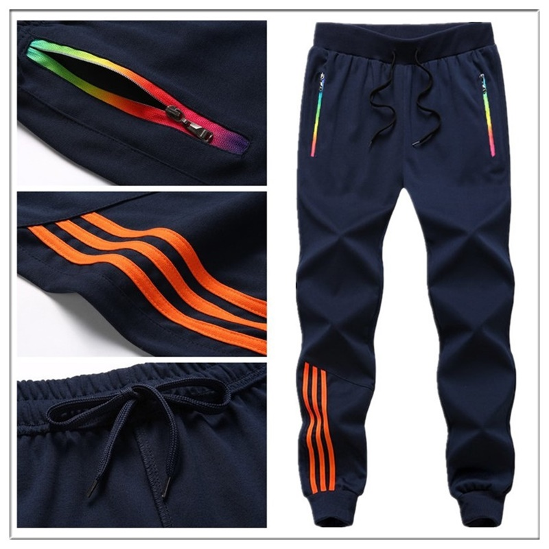 Striped Pants Men Jogger Casual Mens Sweatpants Sportswear Long Trousers New Straight Pant Man Fitness Clothing