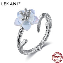 Lekani 925 Серебряное кольцо для женщин белая вишня в цвету