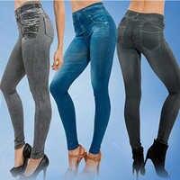 Nova moda calças de brim mulheres lápis calças de cintura alta calças de brim sexy magro elástico calças magros caber senhora calças de brim mais tamanho