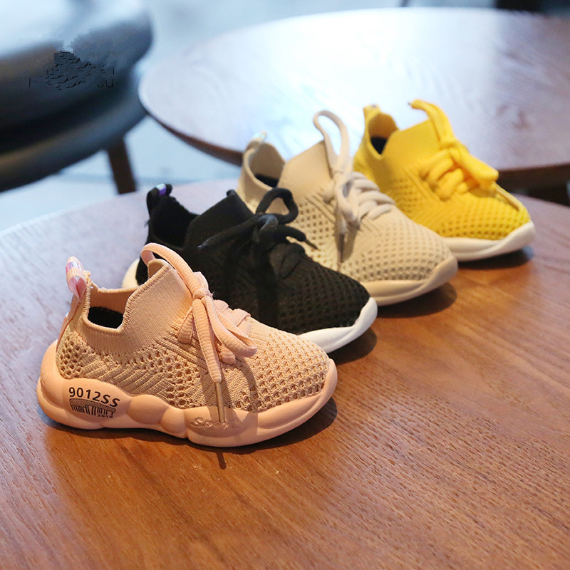 2020 New Breathable Mesh Sneakers 0-2y Baby Boys Infant Toddler First Walkers Bebe Girls Shoes Soft Casual Running Coconut Shoes