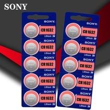 10pc Sony Original 100% CR1632 Taste Zelle Batterie Für Uhr Auto Fernbedienung Schlüssel cr 1632 ECR1632 GPCR1632 3v lithium-Batterie