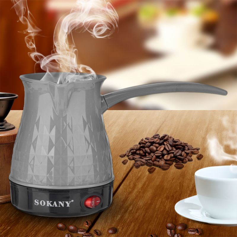 Coffee Maker 600W 500ml Greek Turkish Electric Coffee Pot Portable Espresso Machine Fast And Heat Resistant Waterproof EU Plug