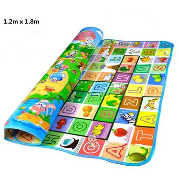 Baby Crawling Play Mat Climb Pad Double-Side Fruit Letters And Happy Farm Baby Toys Playmat Kids Carpet Baby Game good little baby crawling mat climb pad double sided pattern of increased moisture thicker section skid game blanket outdoor pad