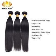 """Aliafee cabelo peruano tecer cabelo reto 3/4 ofertas pacotes de cabelo reto 8 """" 30"""" extensão do cabelo humano remy cor natural"""