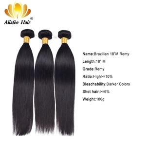 """Image 1 - Aliafee włosy peruwiańskie proste włosy wyplata 3/4 oferty pasma prostych włosów 8 """" 30"""" ludzki włos do przedłużania włosów Remy Natural Color"""