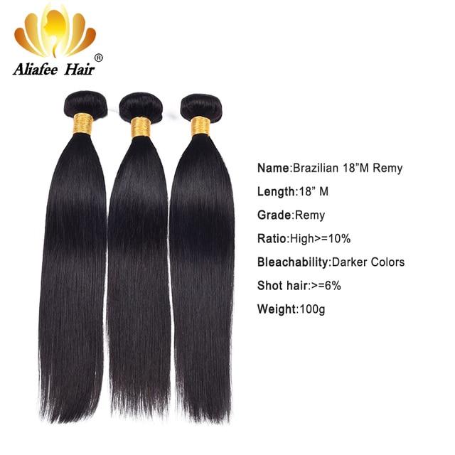 """Aliafee włosy peruwiańskie proste włosy wyplata 3/4 oferty pasma prostych włosów 8 """" 30"""" ludzki włos do przedłużania włosów Remy Natural Color"""