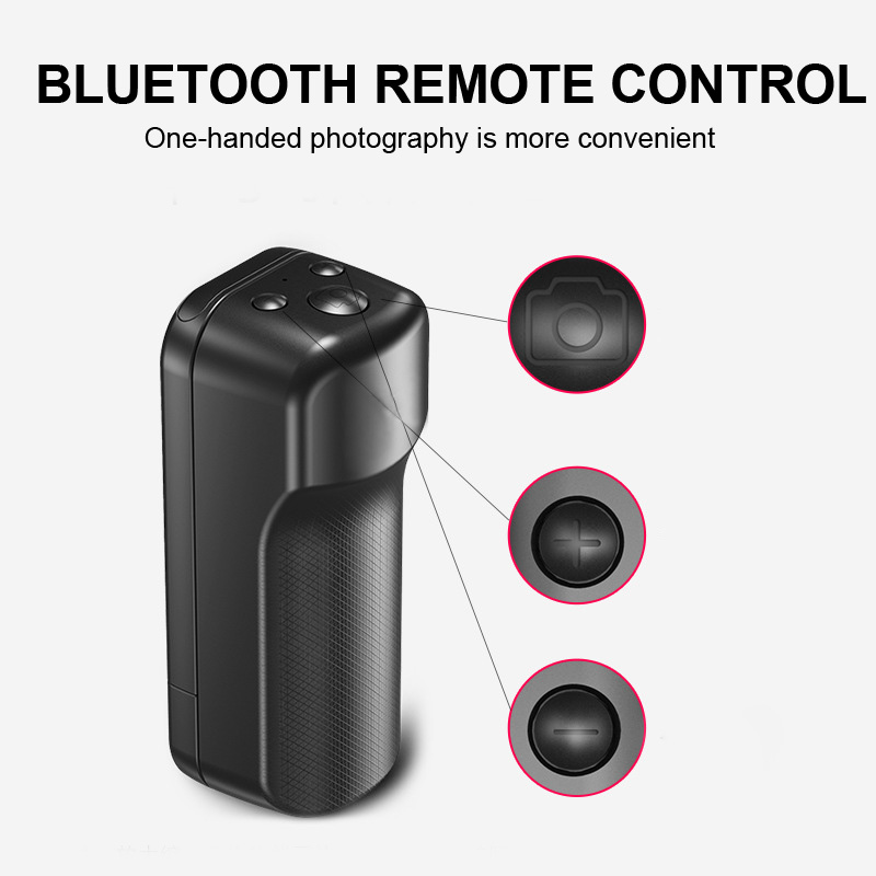 Outdoor Tool Travel EDC Wireless Selfie Camera Shutter Selfie Handle Grip Bluetooth Photo Stablizer Holder Remote Control
