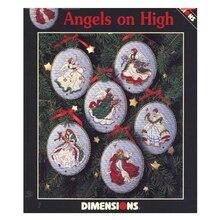 Alta qualità bella vendita calda contati Kit punto croce angeli su albero di natale alto ornamento 6 pezzi ornamenti Dim 00285