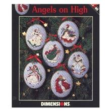 Kit de punto de cruz con cuentas, ángeles en alta adorno para árbol de Navidad, 6 piezas de adornos, Dim 00285
