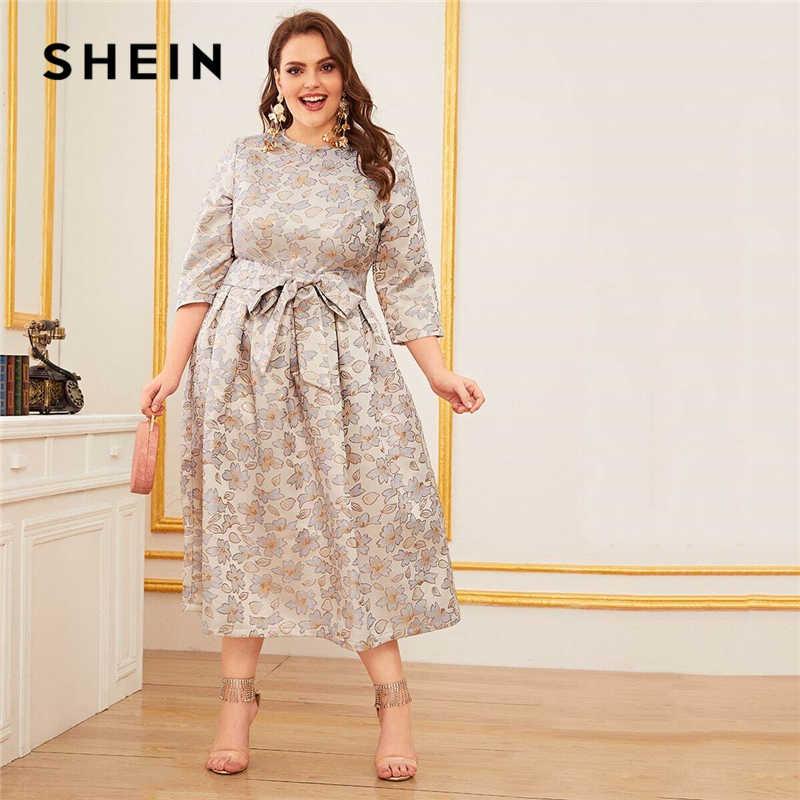 Shein De Talla Grande Vestido Largo Acampanado Elegante Para Primavera Vestidos Aliexpress