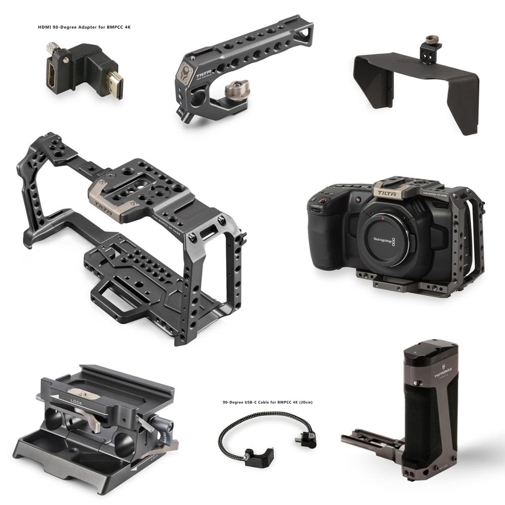 Tilta BMPCC 4K 6K Cage Full Cage Half cage SSD Drive Holder Top Handle Baseplate Sunhood for BlackMagic BMPCC 4K 6K Accessories(China)